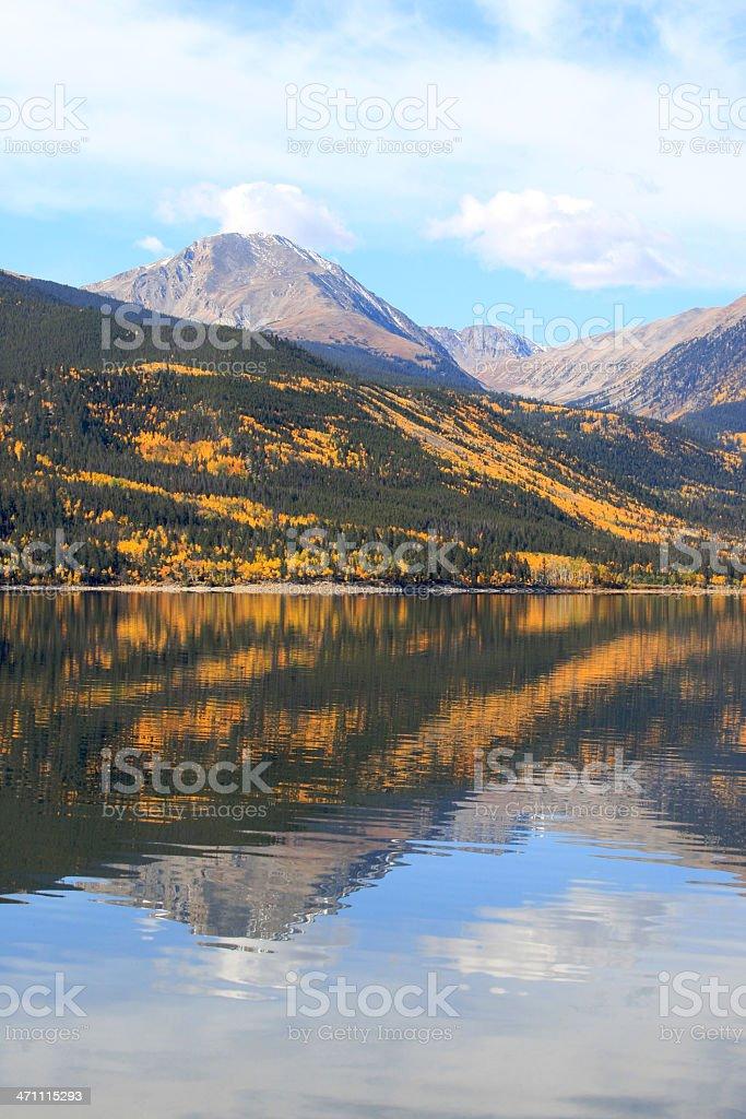 Riflessioni di Aspen foto stock royalty-free