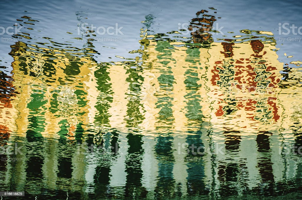 Reflections of Bayonne stock photo