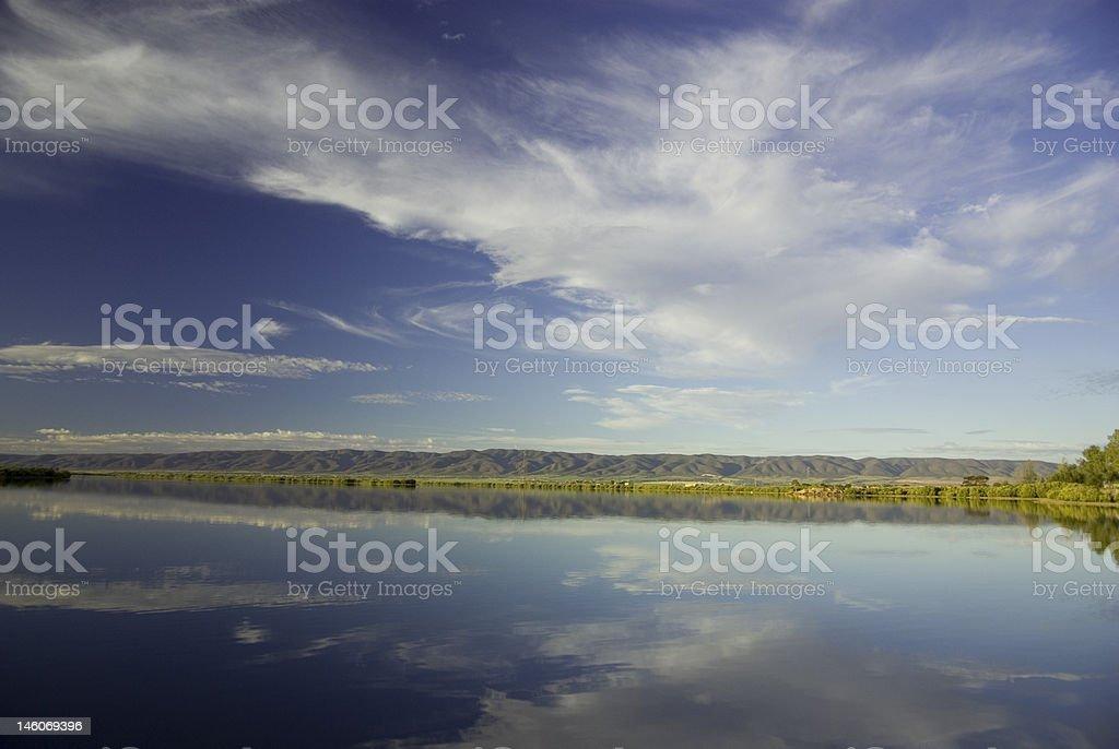 Reflections of Flinders Rangers, South Australia stock photo