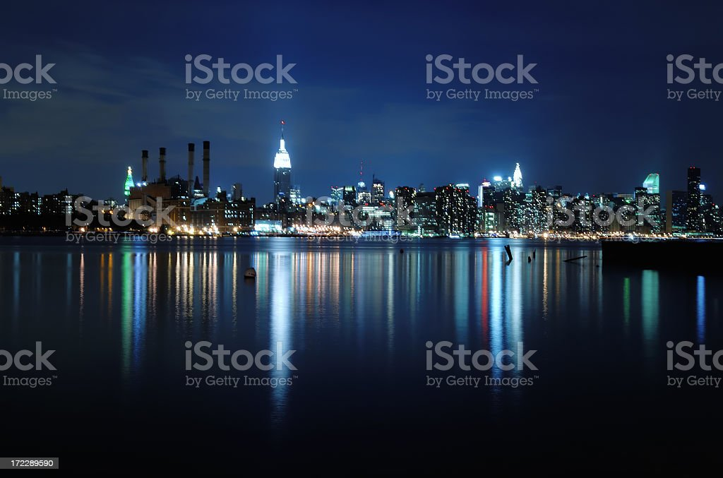 Reflections of Manhattan royalty-free stock photo