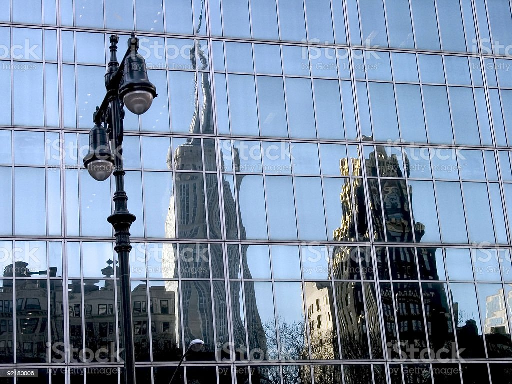 Reflections of New York royalty-free stock photo