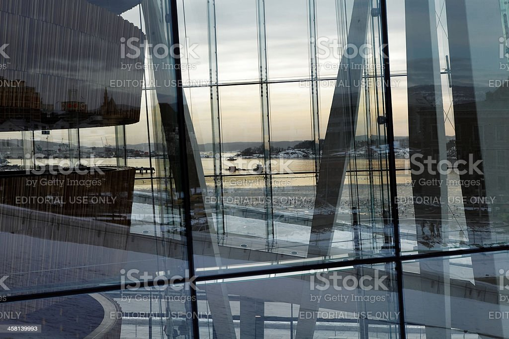 Reflections of Oslo royalty-free stock photo