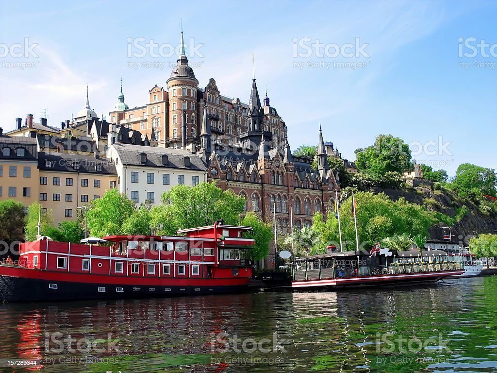 Reflections of Stockholm Sweden royalty-free stock photo