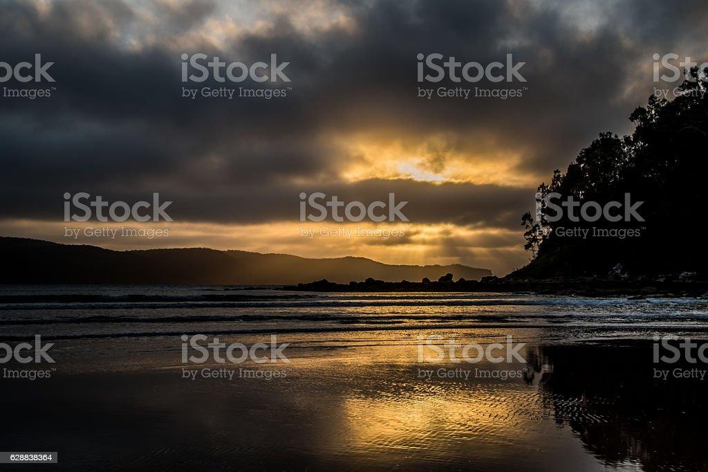 Reflections of Sunrise stock photo