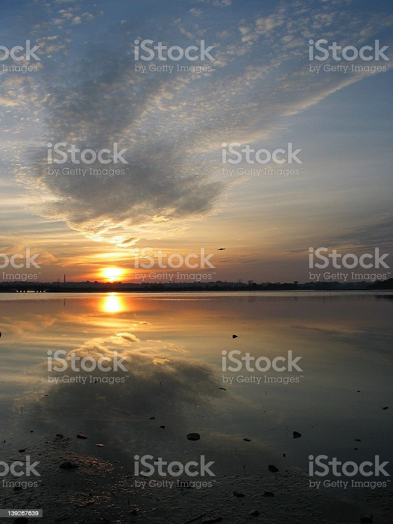 Reflections of Sunset, royalty-free stock photo