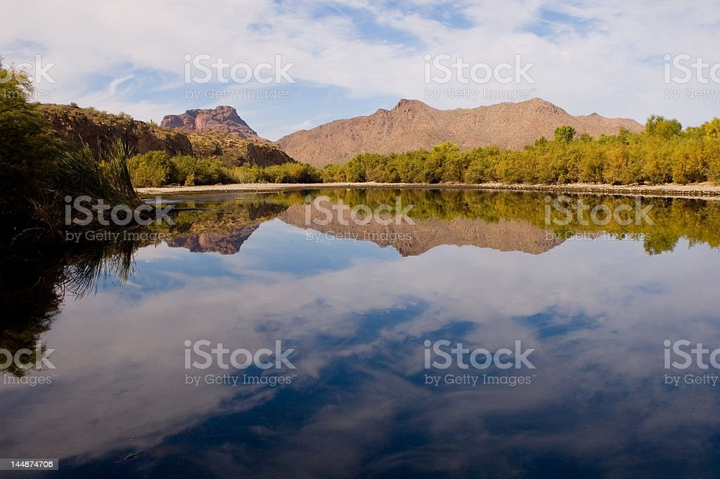 Reflections of the Salt River royalty-free stock photo