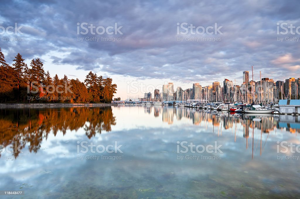 Reflections of Vancouver stock photo