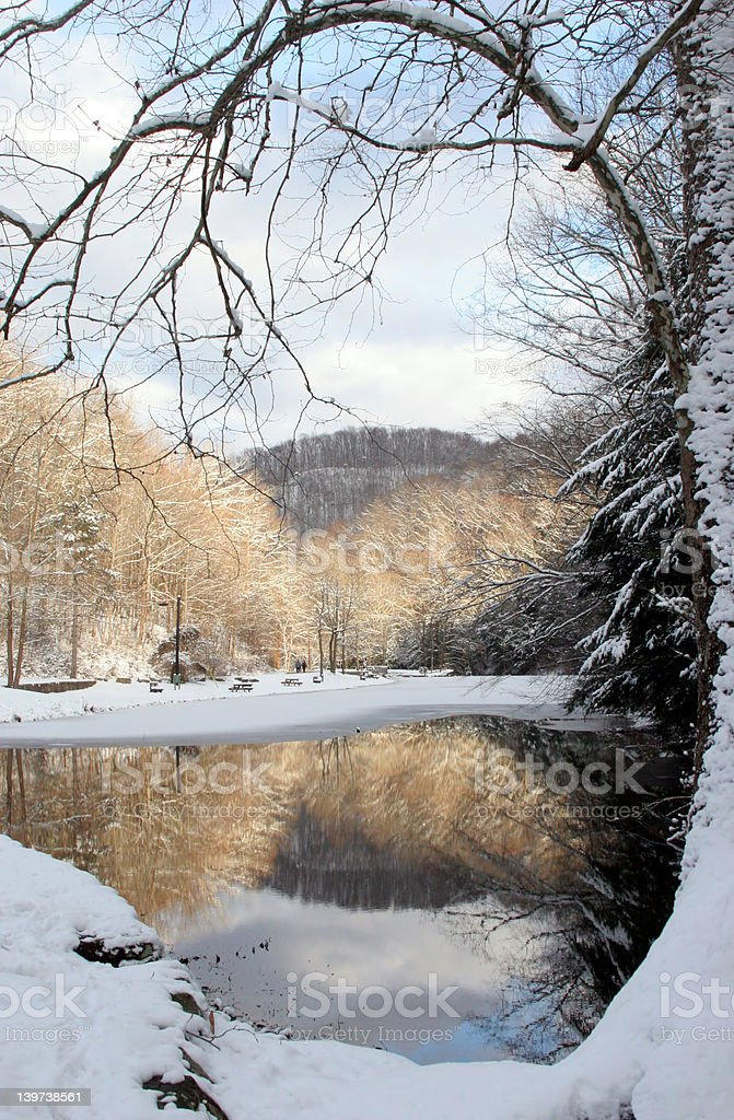 Reflections of Winter stock photo