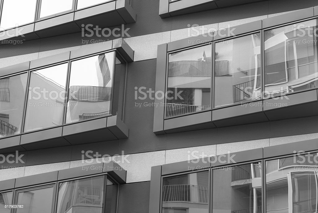 Reflections on glass stock photo