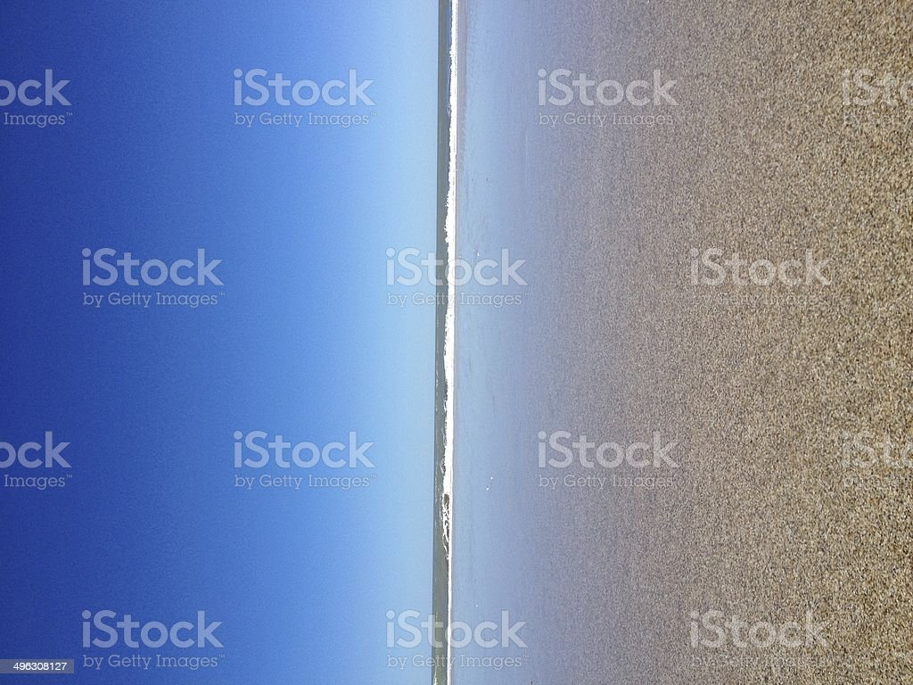Reflections on the Beach. royalty-free stock photo