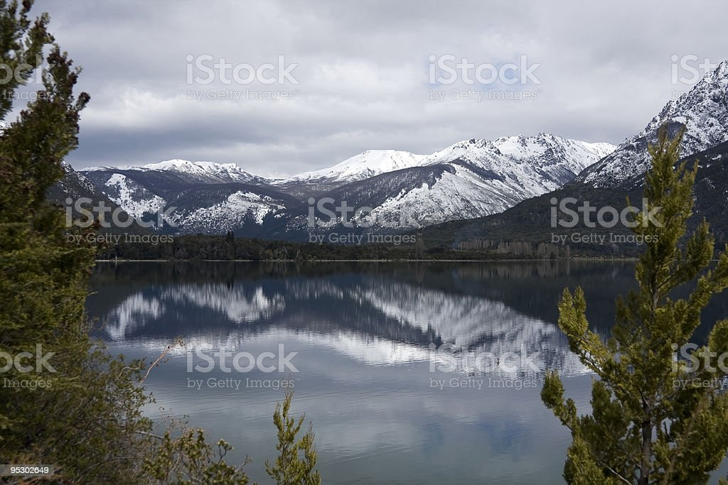 Reflections on the lake royalty-free stock photo