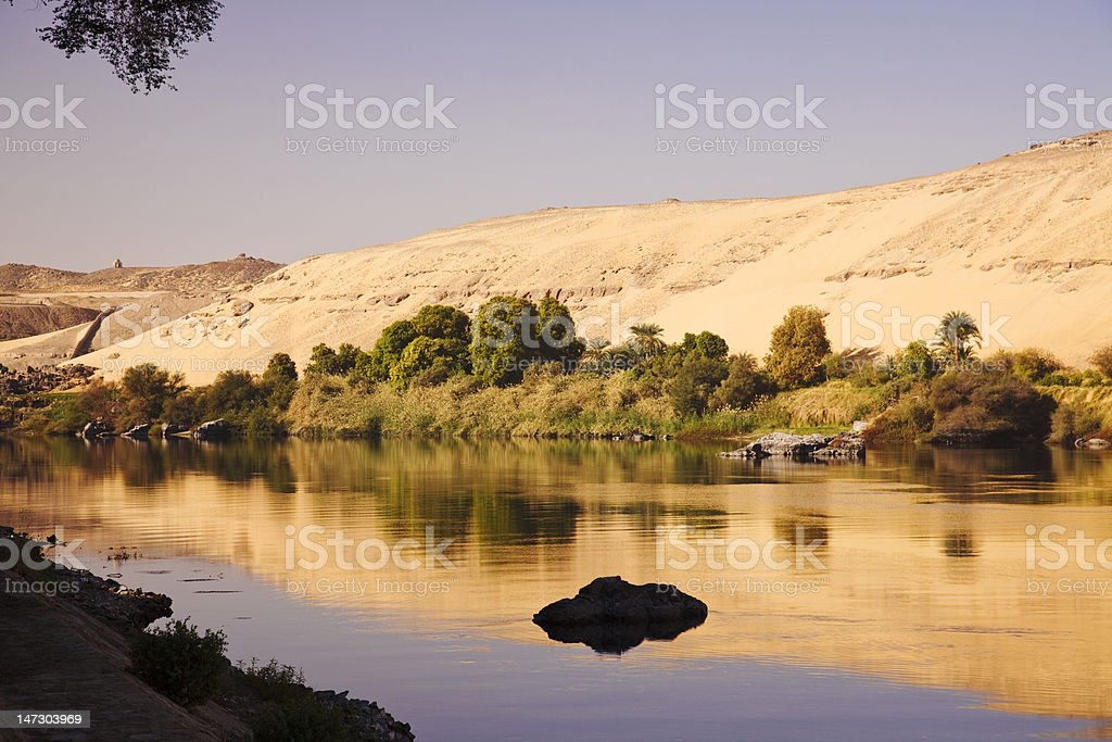 Reflections On The Nile stock photo