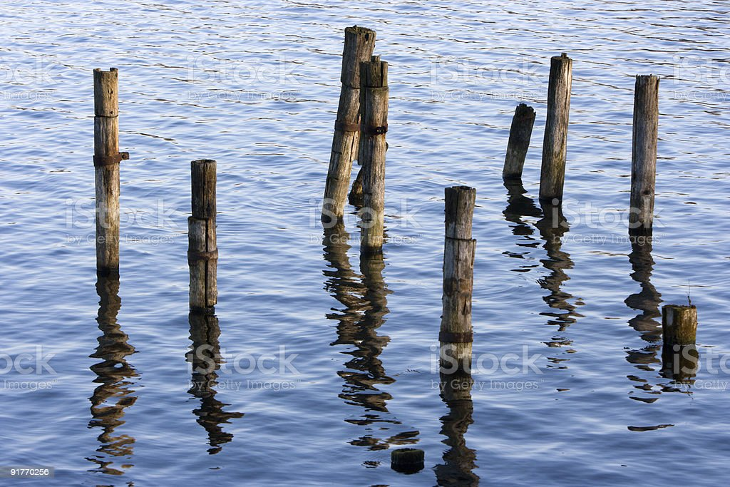 Reflections on the water. royalty-free stock photo