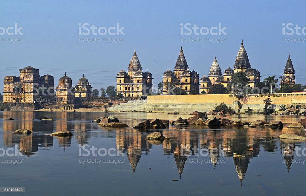 Reflections Orchha : India stock photo