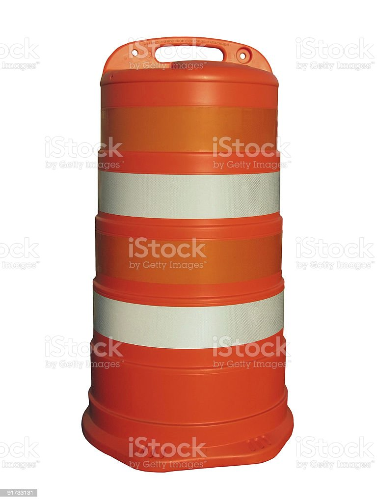 Reflective barrel. royalty-free stock photo