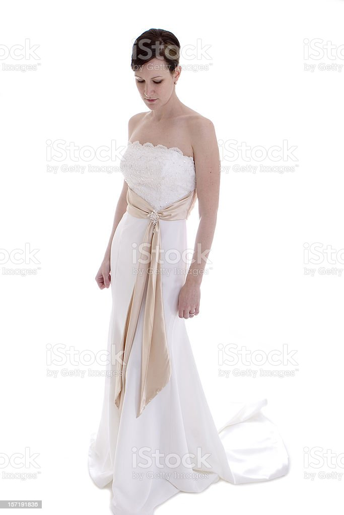 Reflective Bride royalty-free stock photo