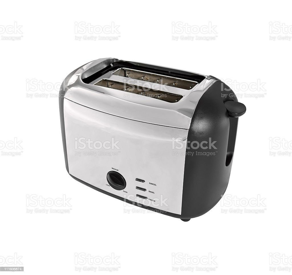 Reflective Chrome Toaster stock photo