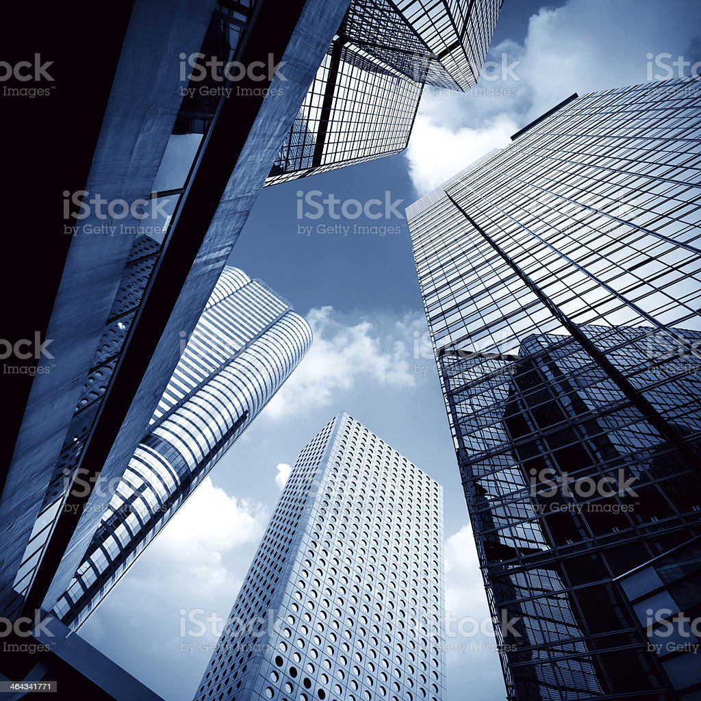 Reflective Hong Kong skyscrapers stock photo