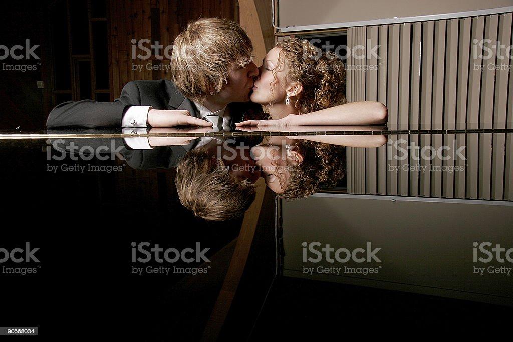 Reflective Kiss royalty-free stock photo
