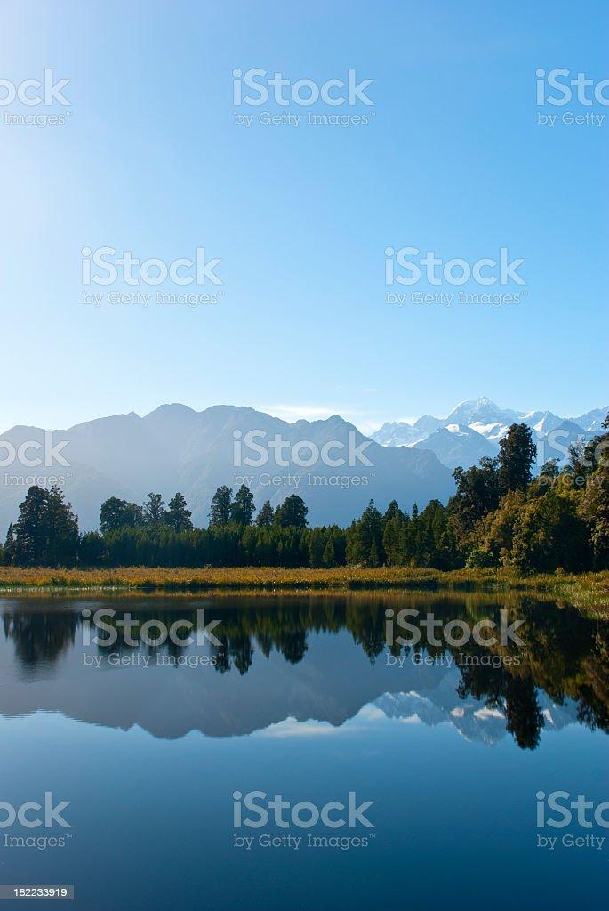 Reflective lake royalty-free stock photo