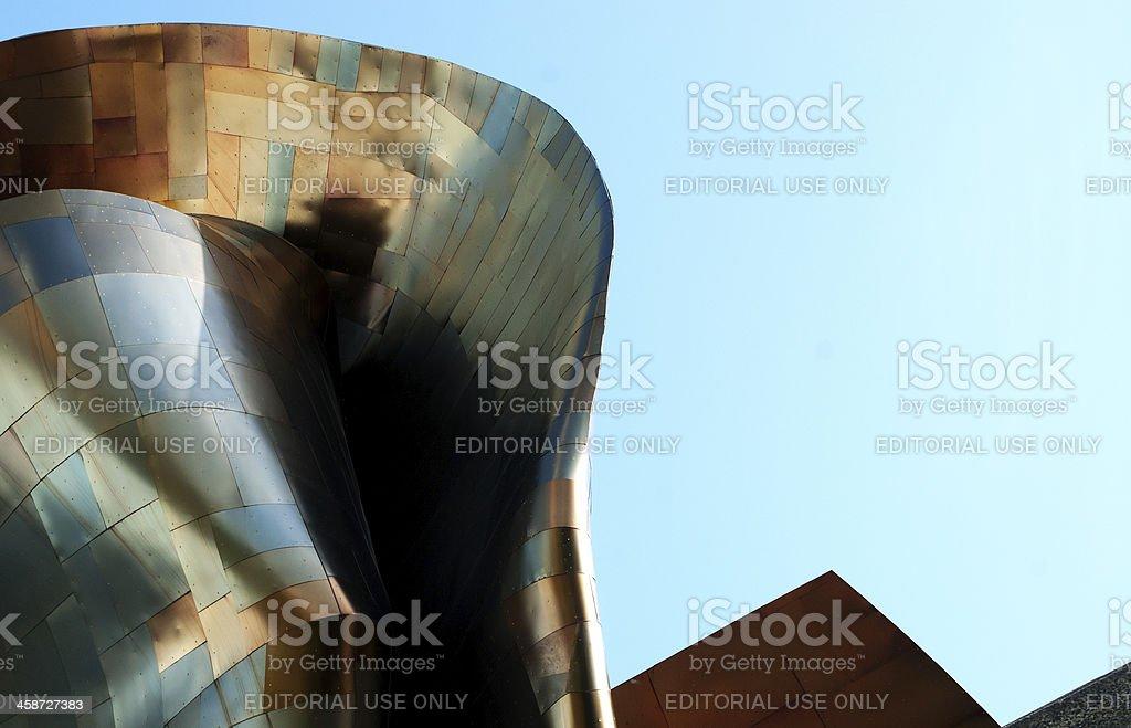 reflective metal panels stock photo