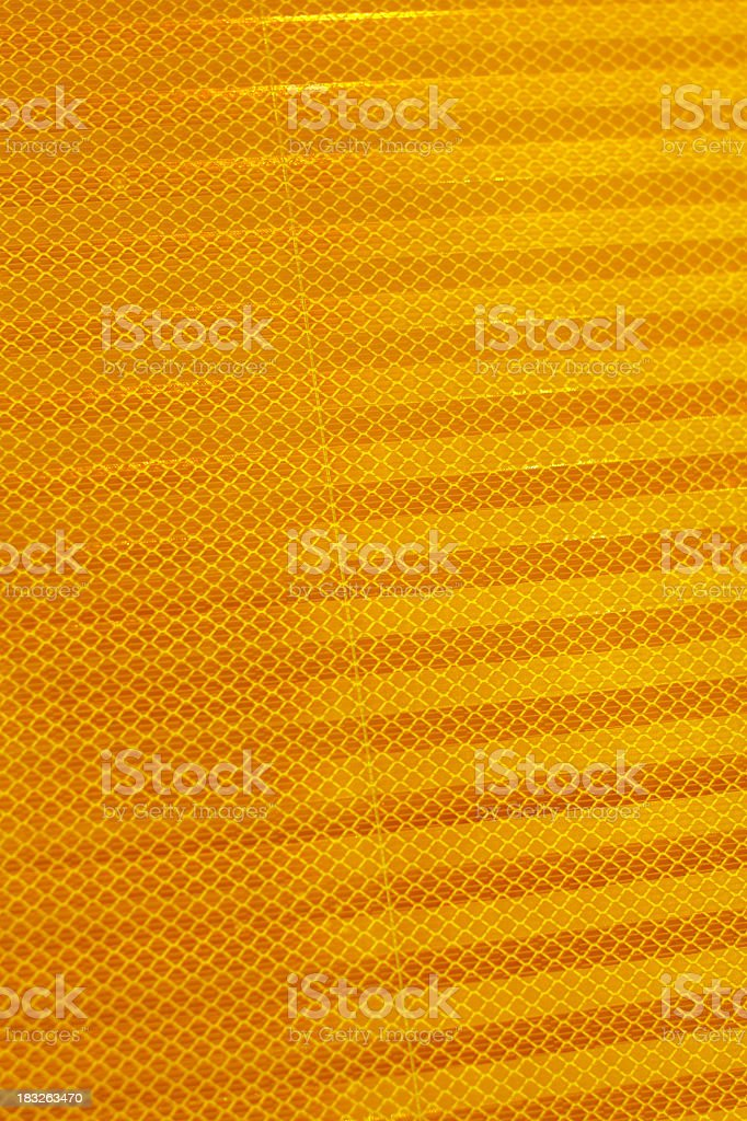 Reflective Sign Detail stock photo