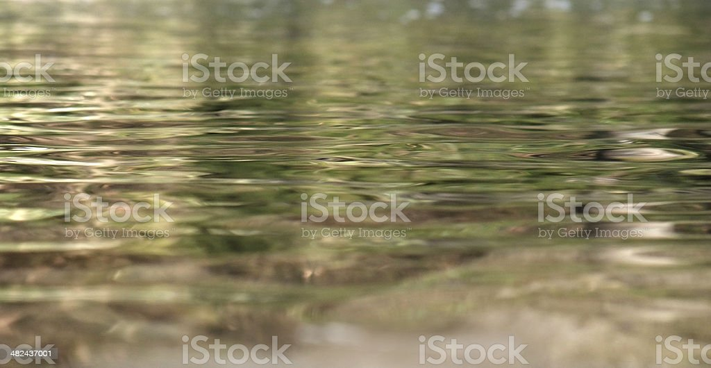 reflective water surface stock photo