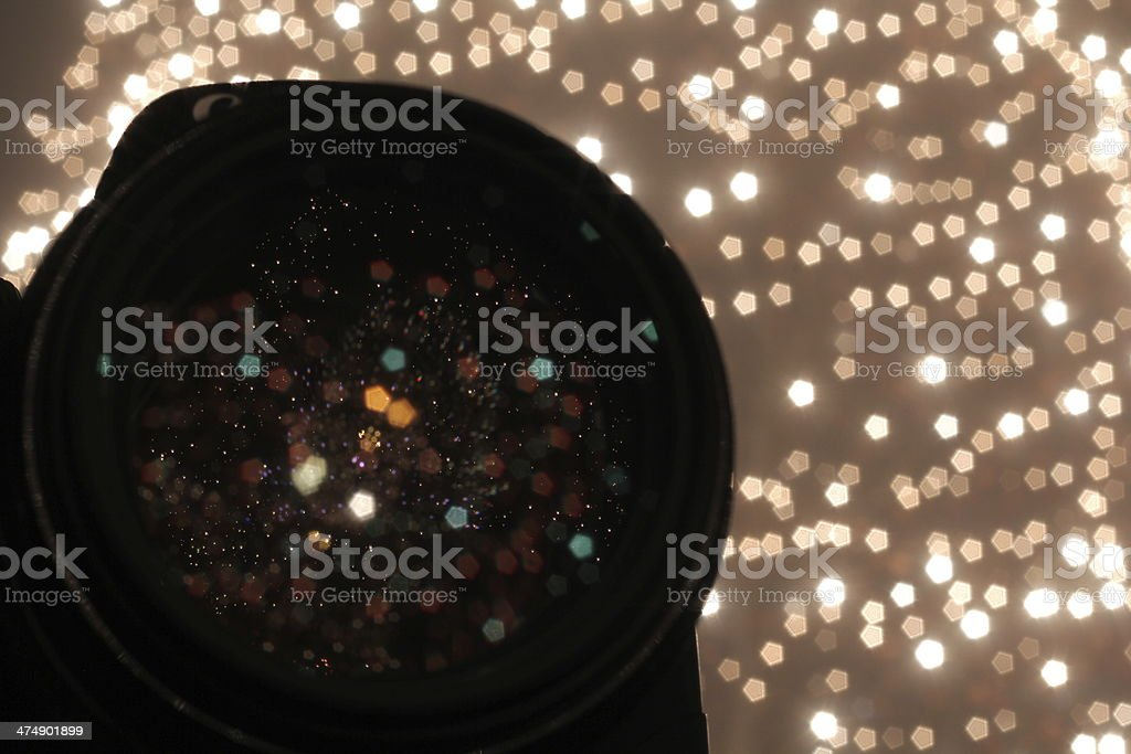 refletion christmas stock photo