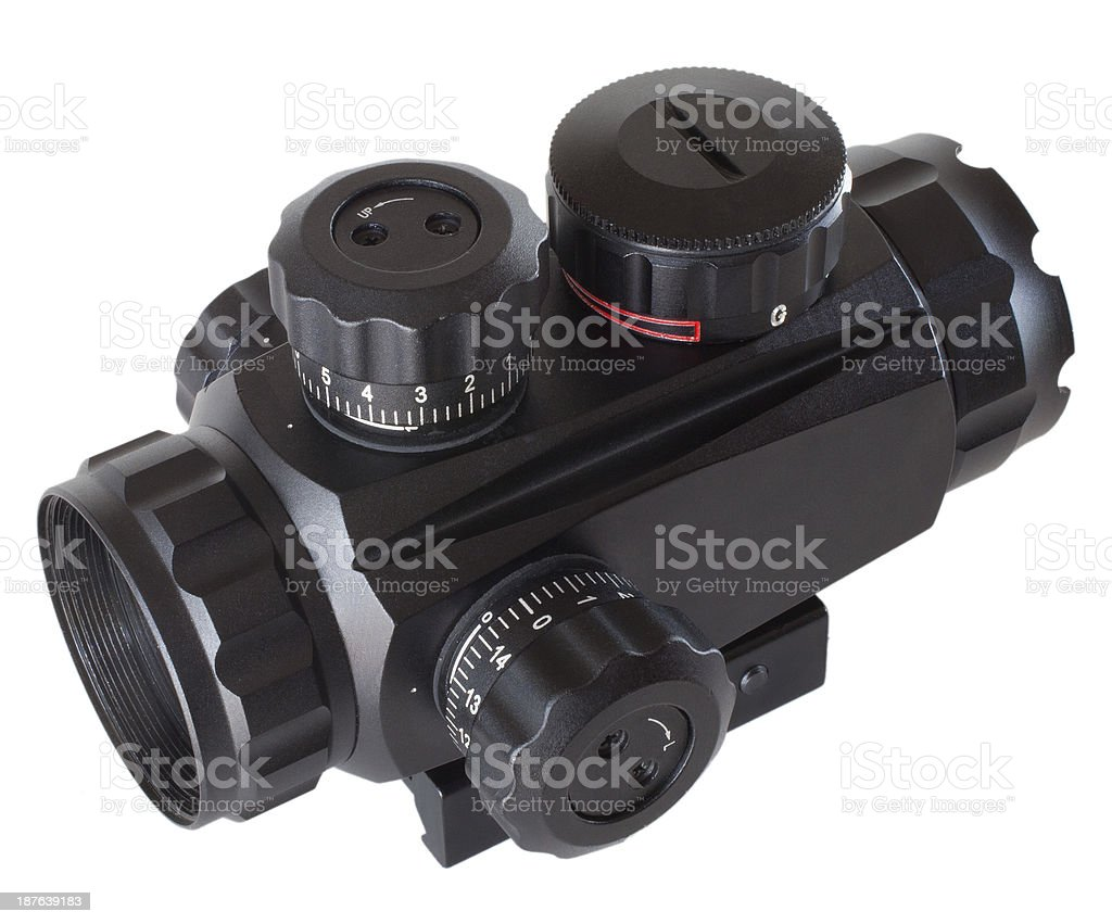 Reflex riflescope royalty-free stock photo