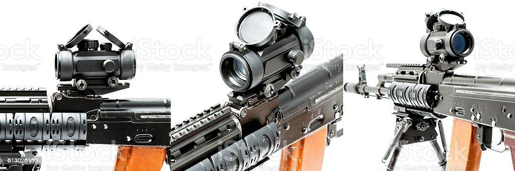 Reflex sight stock photo
