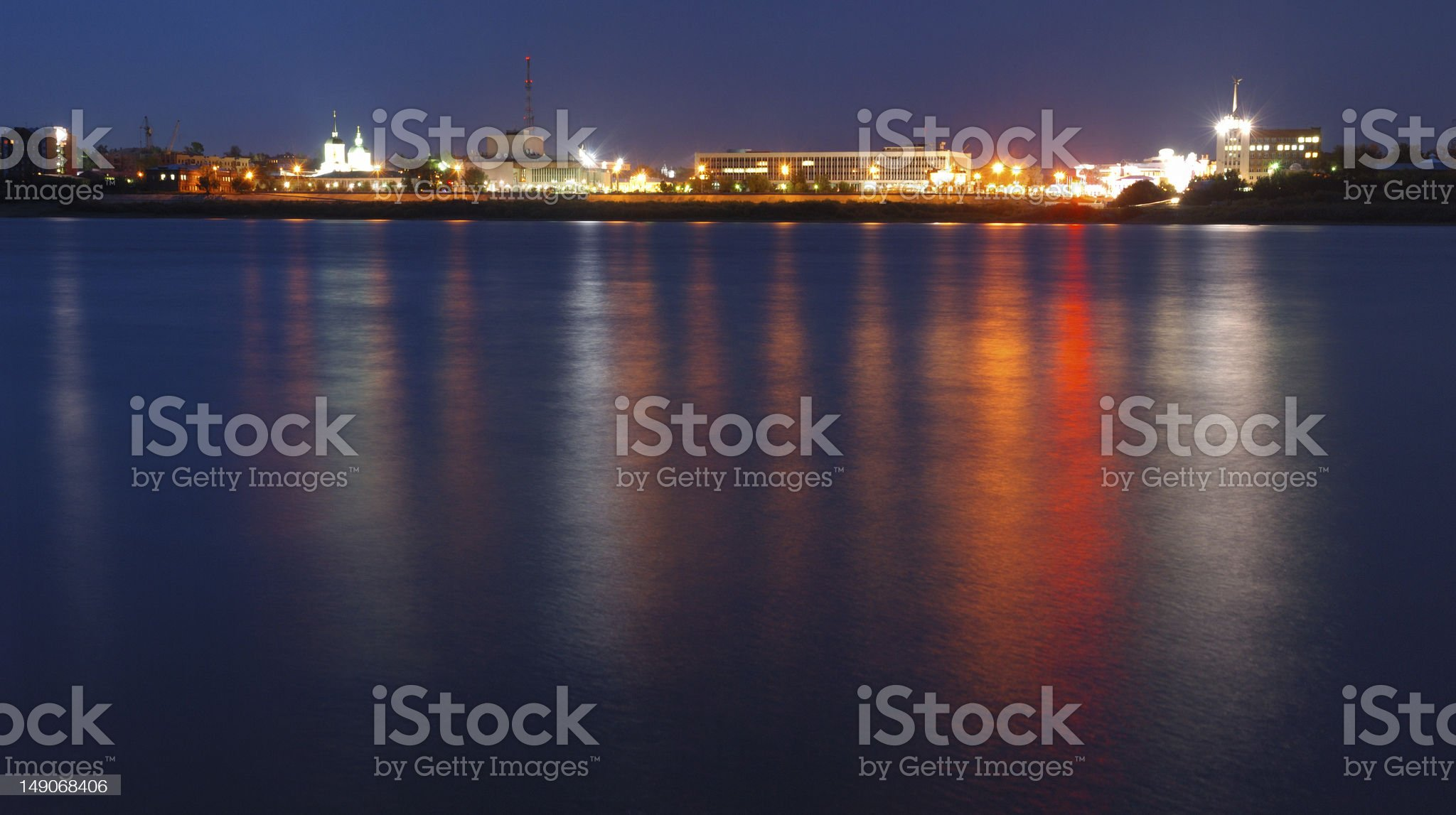 reflexions  in the river royalty-free stock photo