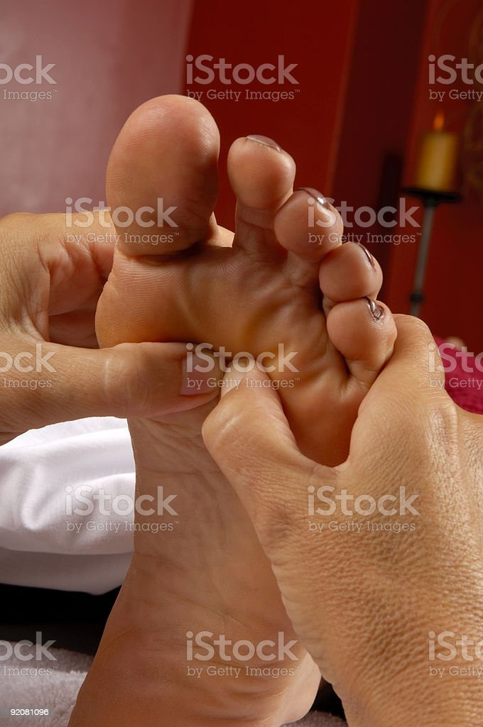 Reflexology Foot Massage at Mind and Body Boutique royalty-free stock photo