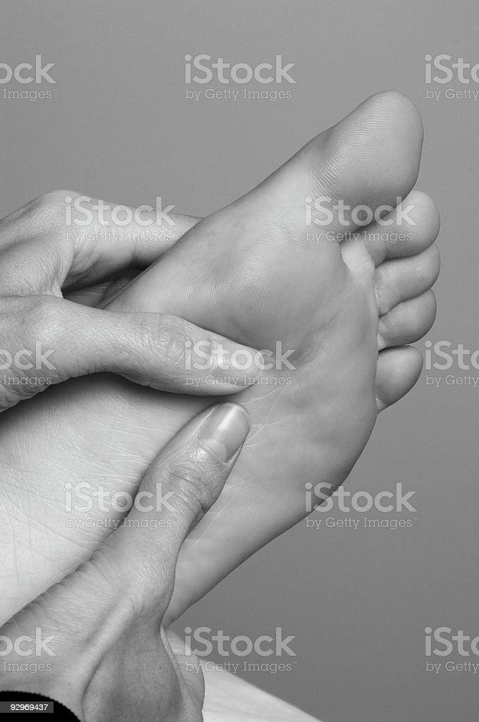 Reflexology Foot Massage at Spa royalty-free stock photo