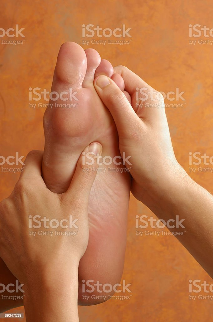 Reflexology Foot Massage Therapy royalty-free stock photo
