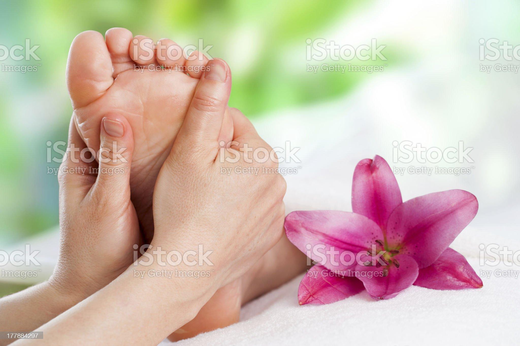Reflexology massage. royalty-free stock photo