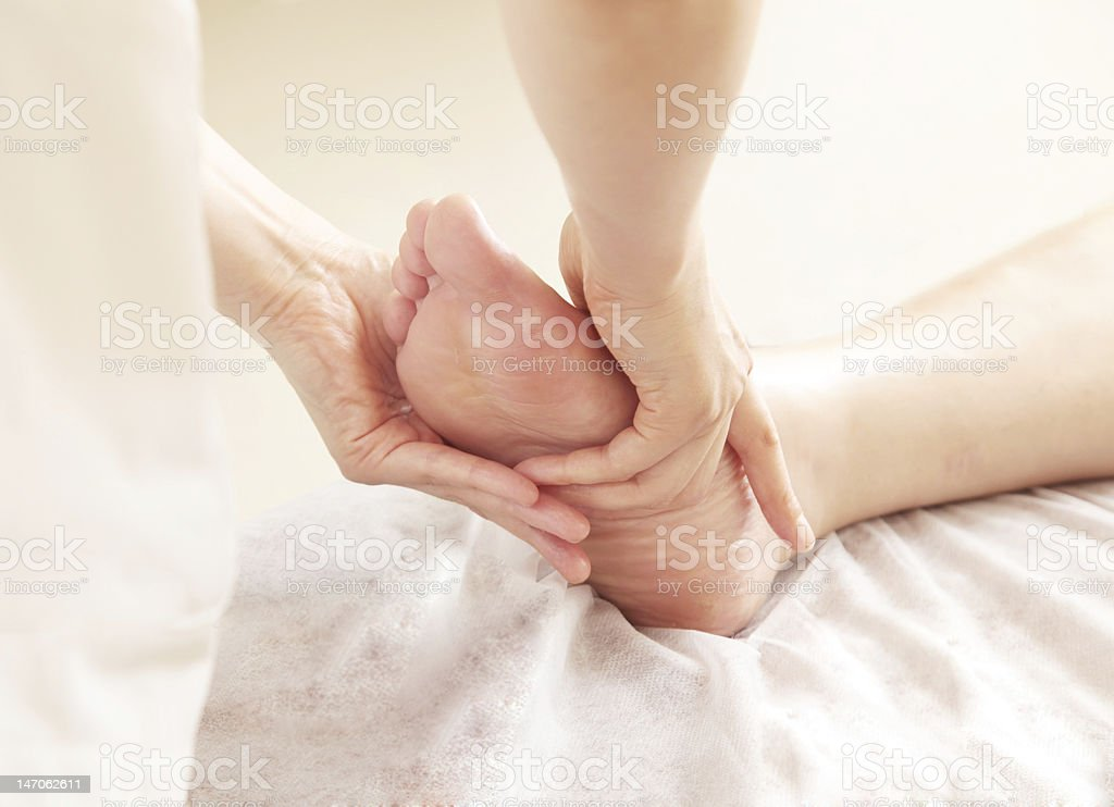 reflexology royalty-free stock photo