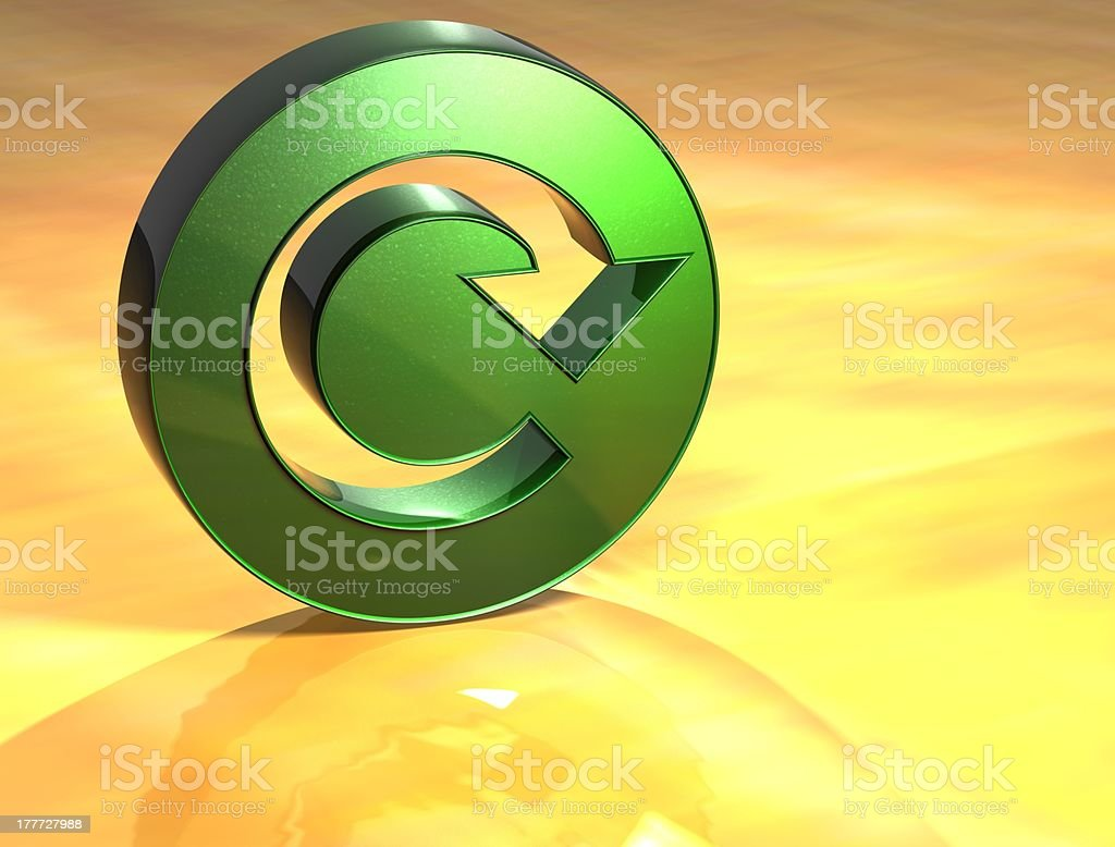 3D Refresh Green Sign stock photo