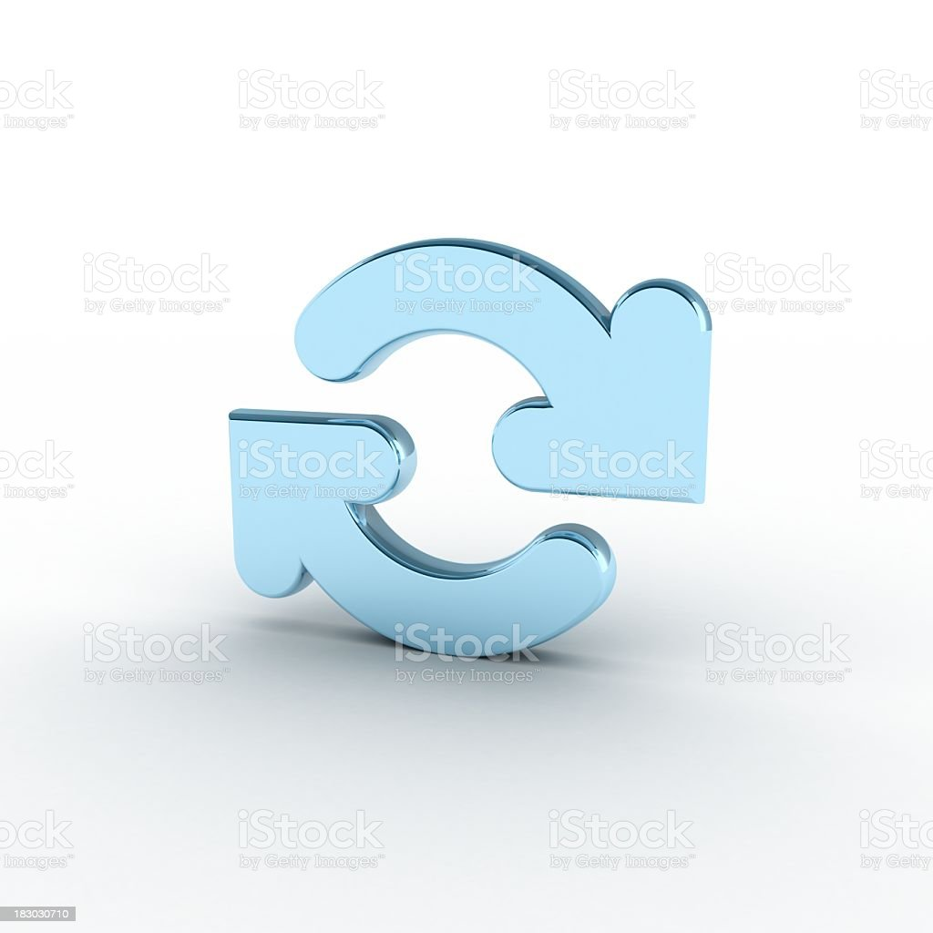 Refresh, recycle or reload symbol stock photo