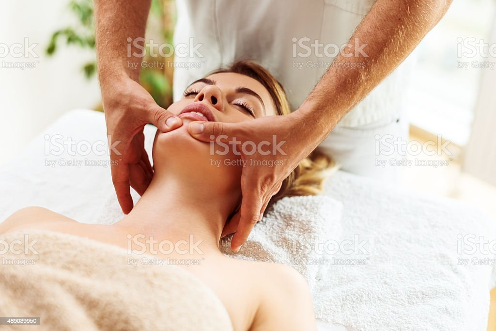 Refresh your face stock photo