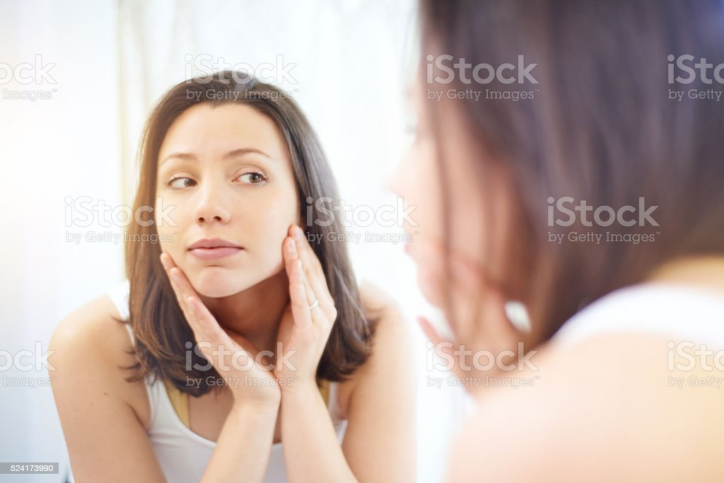 Refreshing and cleansing stock photo