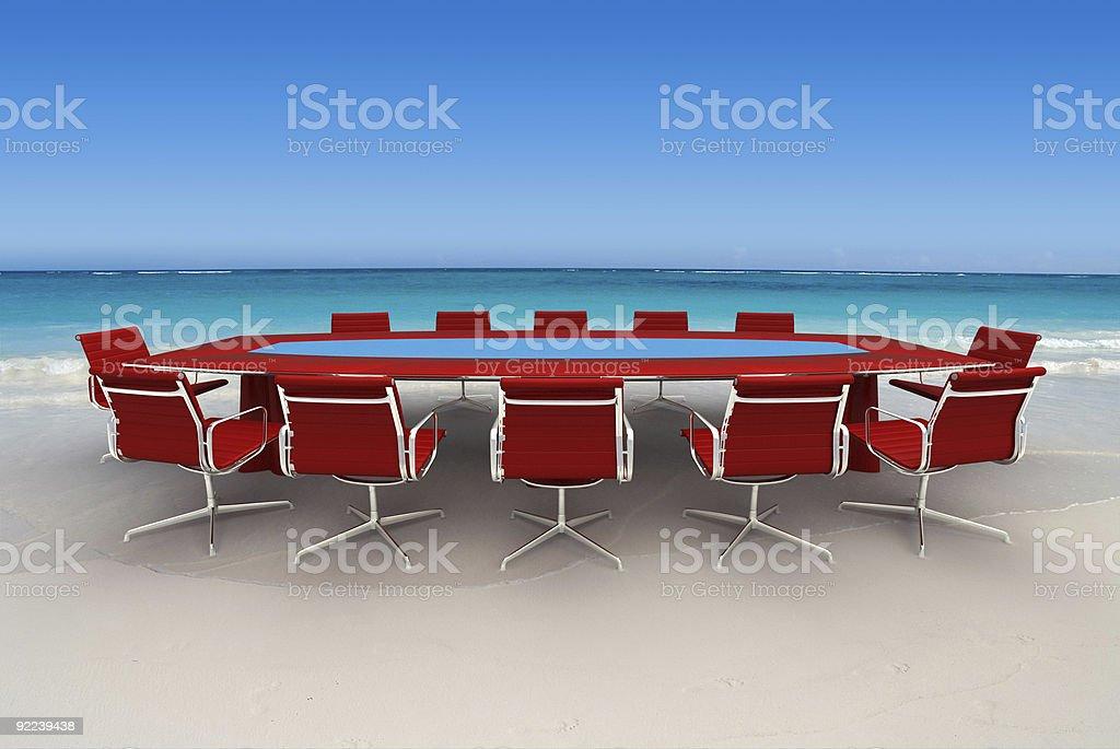 Refreshing business meeting stock photo