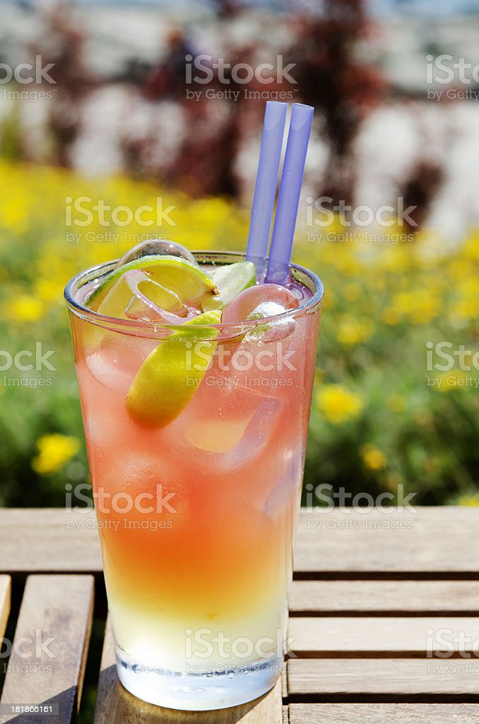 Refreshing cocktail royalty-free stock photo