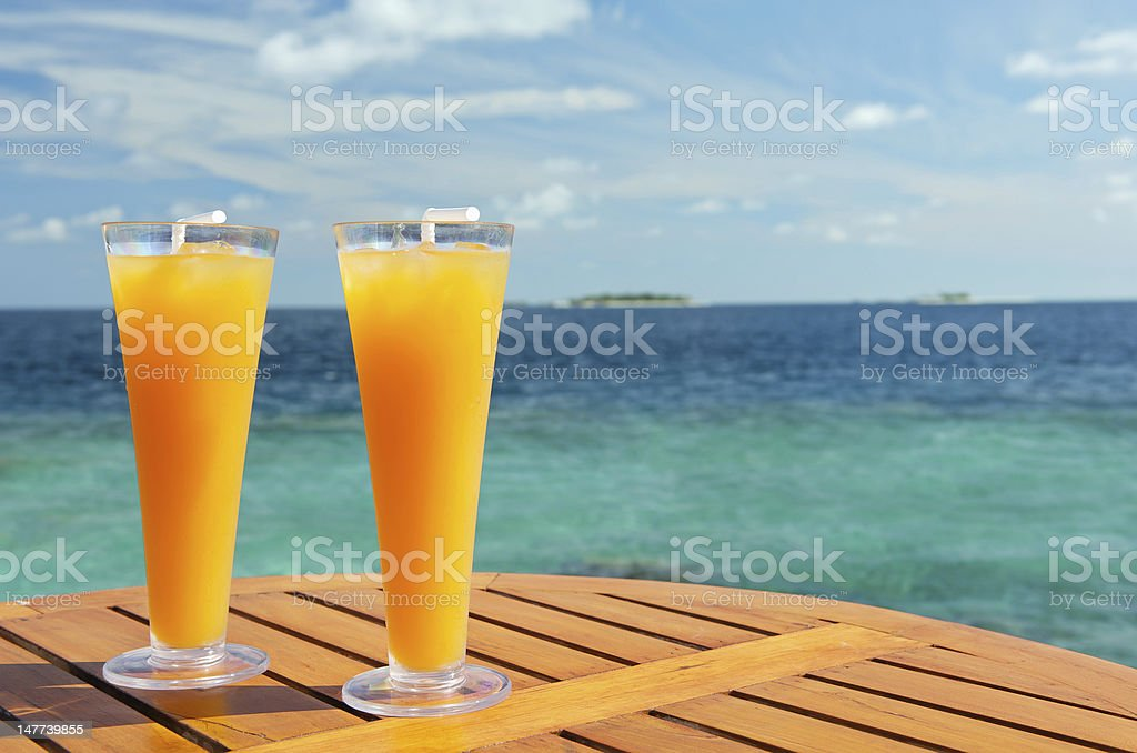 Refreshing cocktails royalty-free stock photo