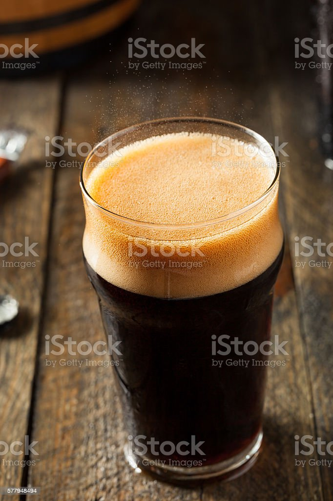 Refreshing Cold Alcoholic Hard Root Beer stock photo