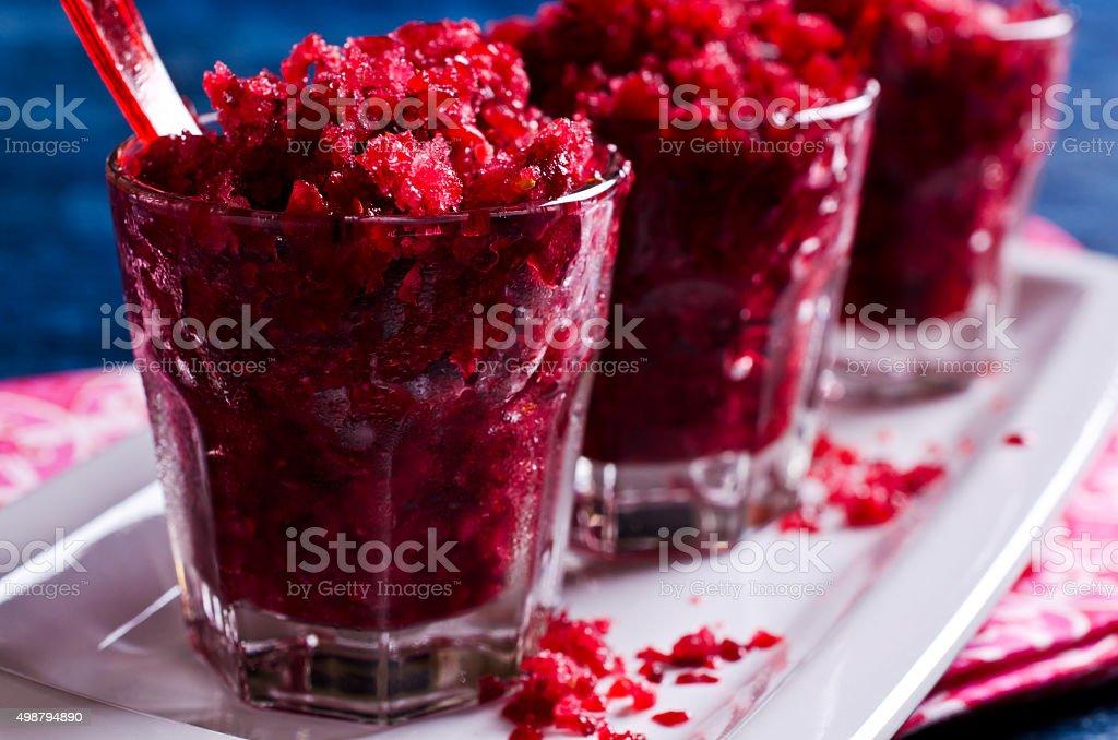 Refreshing cold dessert stock photo