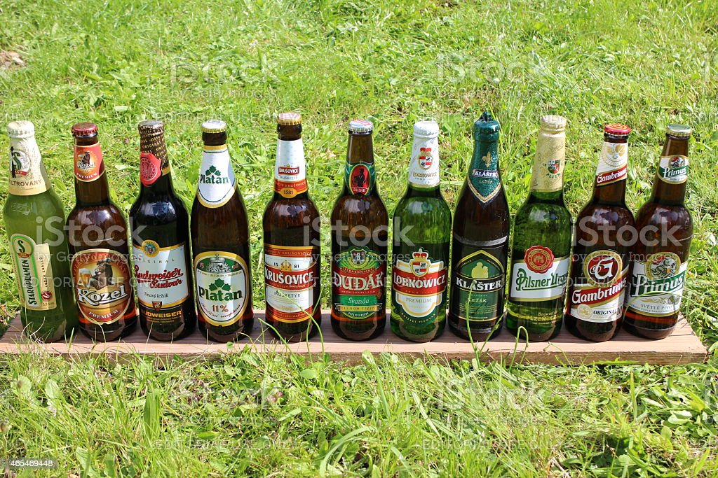 Refreshing Czech Beer in Summer Time stock photo