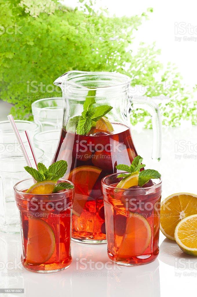 Refreshing Fruit Sangria royalty-free stock photo