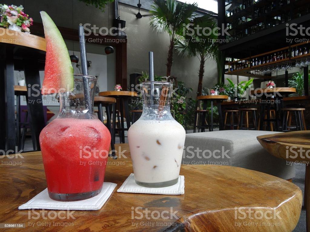 Refreshing fruit smoothies stock photo