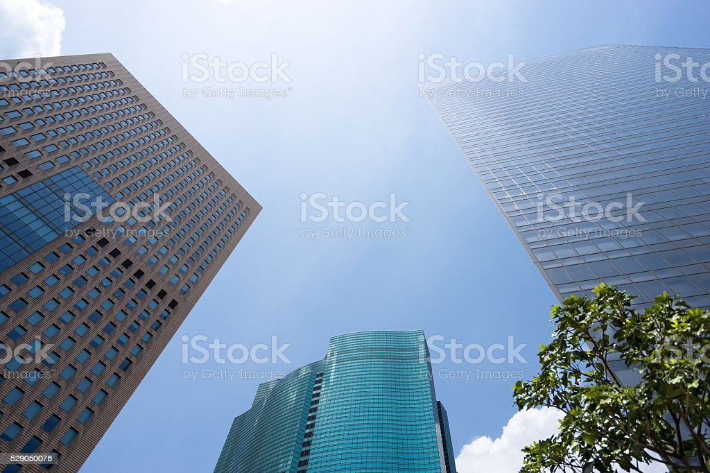 Refreshing green business area stock photo