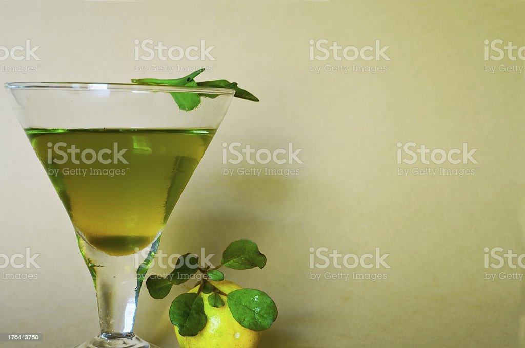 Refreshing green drink stock photo